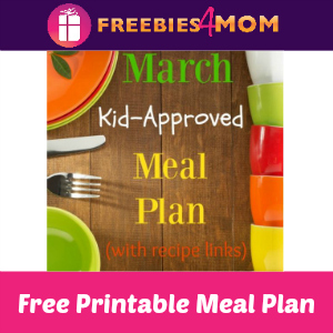 Free Kid Approved March Meal Plan
