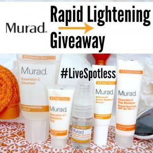 Sweeps Murad Rapid Lightening Giveaway
