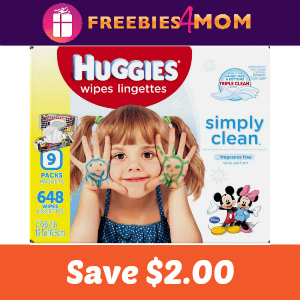 Coupon: $2.00 off any Huggies Wipes (552 ct+)