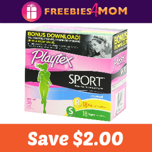 Coupon: $2.00 off any one Playtex Sport Tampon