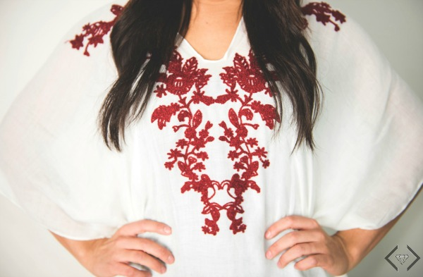 Embroidered Poncho $15.95