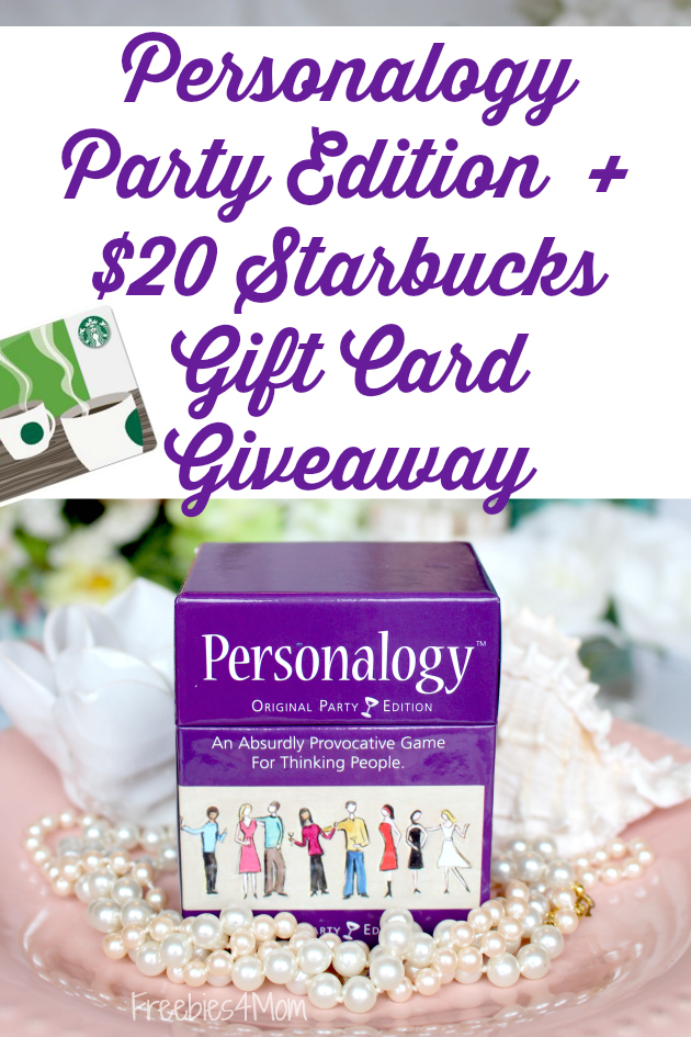 Personalogy Party Edition + $20 Starbucks Gift Card Giveaway