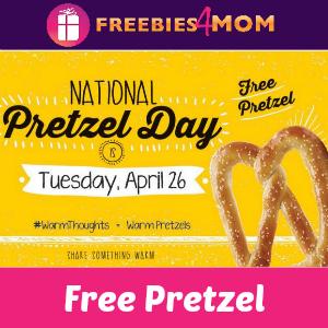 Free Pretzel at Pretzelmaker April 26
