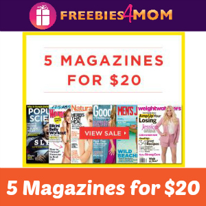 5 for $20 Magazine Sale