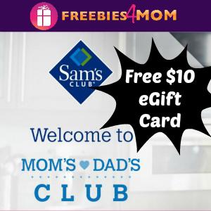 Free $10 Sam's Club eGift Card (For Members)