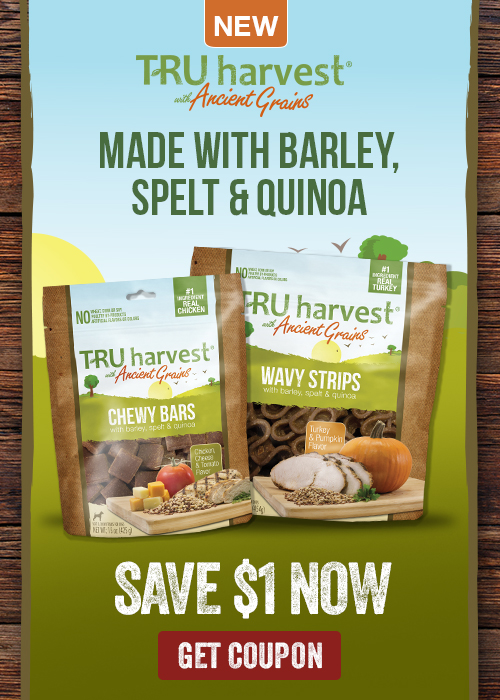 TRU harvest with Ancient Grains Dog Treat Coupon
