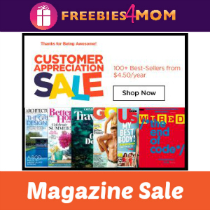 Customer Appreciation Magazine Sale