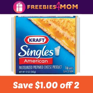 Coupon: Save $1.00 off 2 Kraft Singles