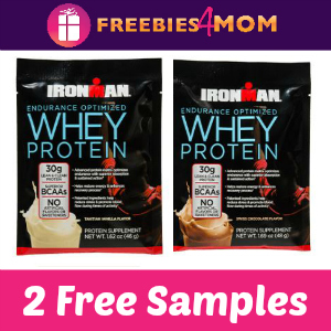 2 Free Samples Ironman Whey Protein