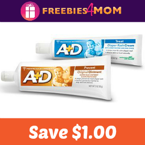 Coupon: $1.00 off any one A+D product
