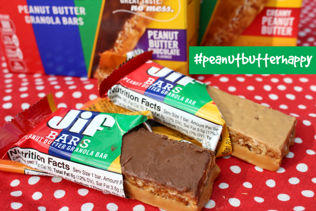 Get #peanutbutterhappy with Jif® Flavored Spreads and Jif™ Bars at Walmart