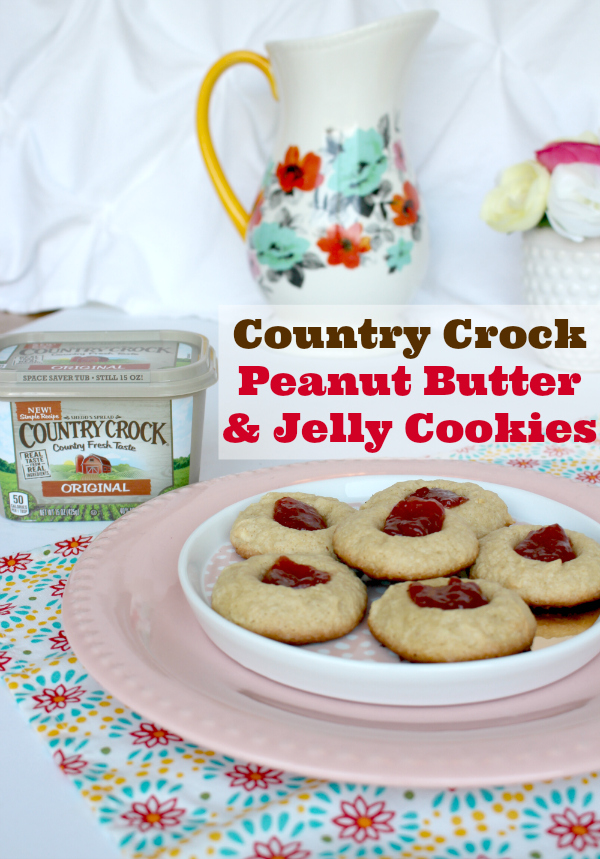 Country Crock® Peanut Butter & Jelly Cookie Recipe #MealInspirations