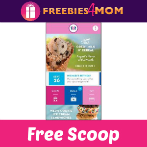Free 4 oz. Scoop at Baskin Robbins