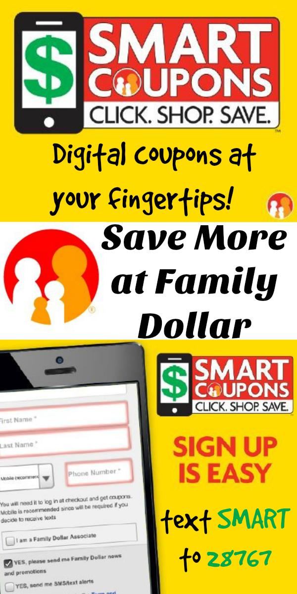 Family Dollar Digital : family, dollar, digital, Family, Dollar, Smart, Coupons, Money!, Freebies