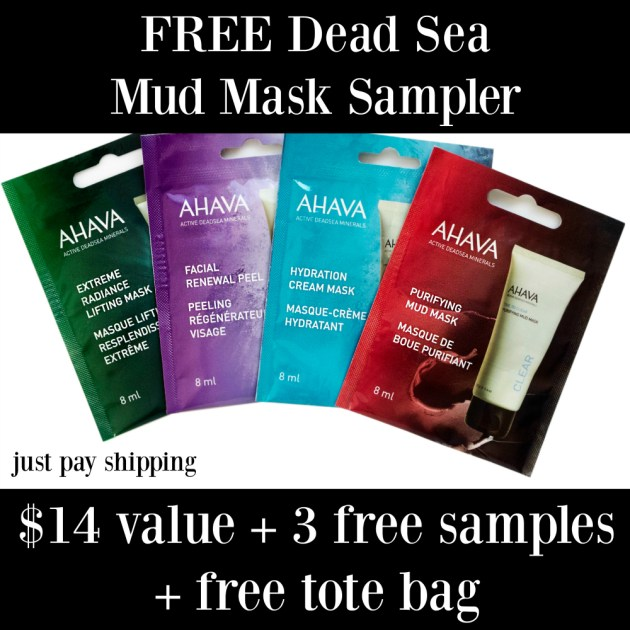 AHAVA Dead Sea Facial Masks Sampler Deal