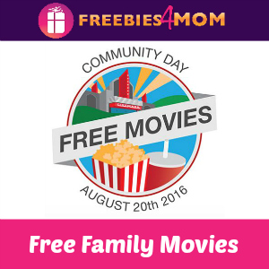 Free Family Movies at Cinemark Aug. 20