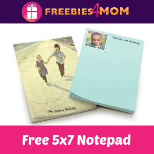 Free 5x7 Shutterfly Personalized Notepad