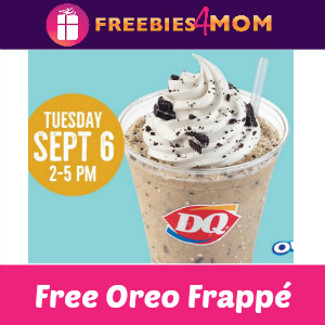 Free Small Oreo Frappé at Dairy Queen Sept. 6