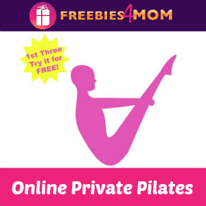 Free Online Private Pilates Sessions (1st 3 to Request)