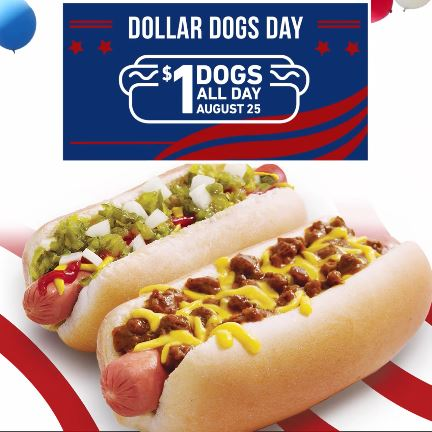$1 Hot Dogs at Sonic August 25