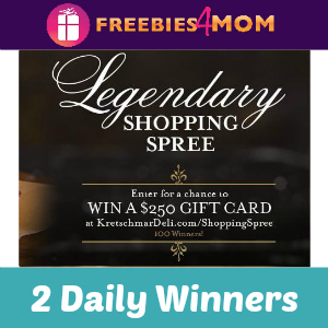 Sweeps Kretschmar Legendary Shopping Spree