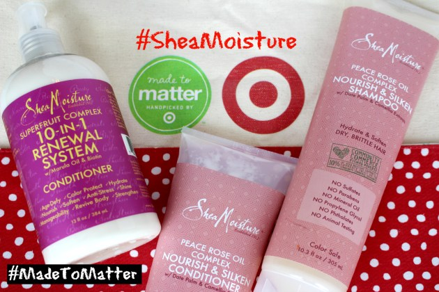 Shea Moisture products #MadetoMatter from Target