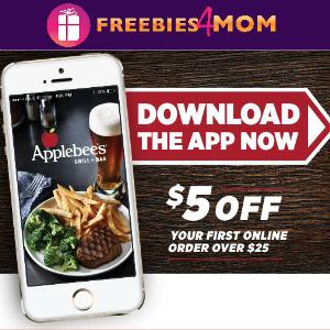 $5 off $25 Online Order at Applebee's