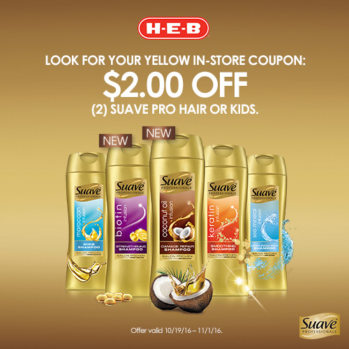 Save on Suave® Professionals at H-E-B