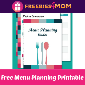 Free Menu Planning Binder Printable