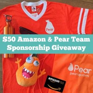 $50 Amazon & Pear Team Sponsorship Giveaway Winner