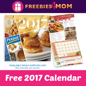 Free 2017 Wall Calendar from Perdue