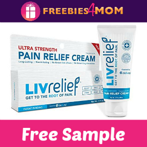 Free Sample LivRelief Pain Relief Cream