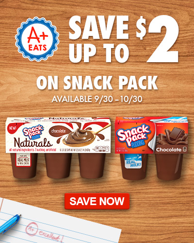 Save up to $2 on Snack Pack puddings at Dillons