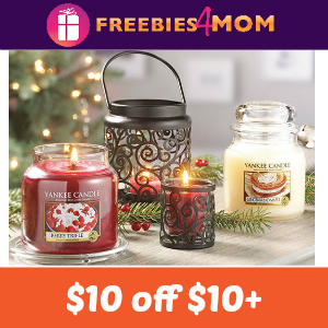 image relating to Yankee Candle $10 Off $25 Printable Coupon called Expired* $10 off $10+ Get at Yankee Candle