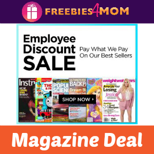 Employee Discount Magazine Sale
