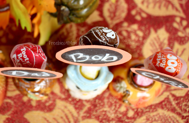How to make Thanksgiving Place Cards from Family Dollar