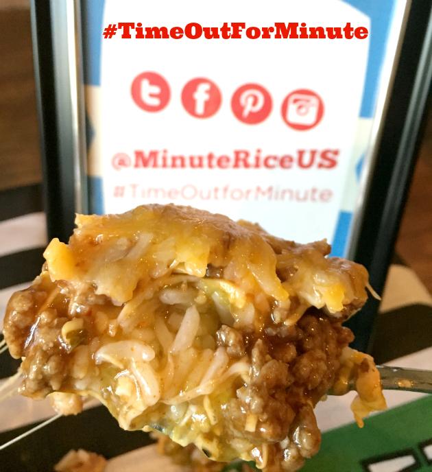 Minute Rice Layered Taco Dip