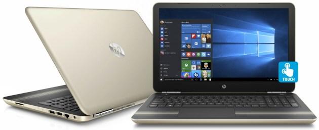 "HP Pavilion 15-au030wm 15.6"" Manhattan Gold Laptop, Touch Screen, Windows 10, Intel Core i5-6200U Processor, 8GB Memory, 1TB Hard Drive"