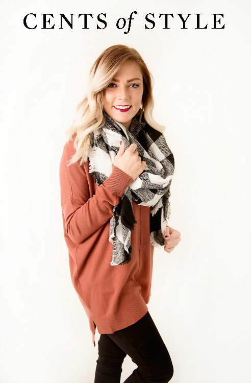Plaid Blanket Scarves $12.95
