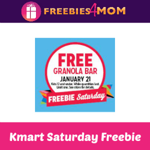 Free Granola Bar at Kmart