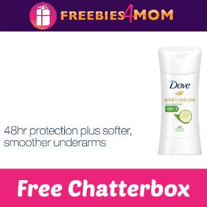 Free Chatterbox: Dove Antiperspirant