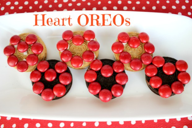 Heart OREOS Cookies for Valentine's Day