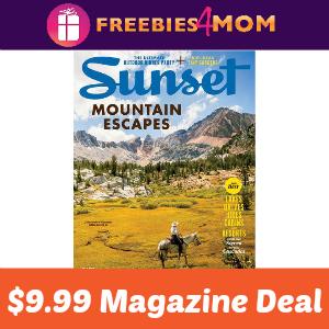 Magazine Deal: Sunset $9.99