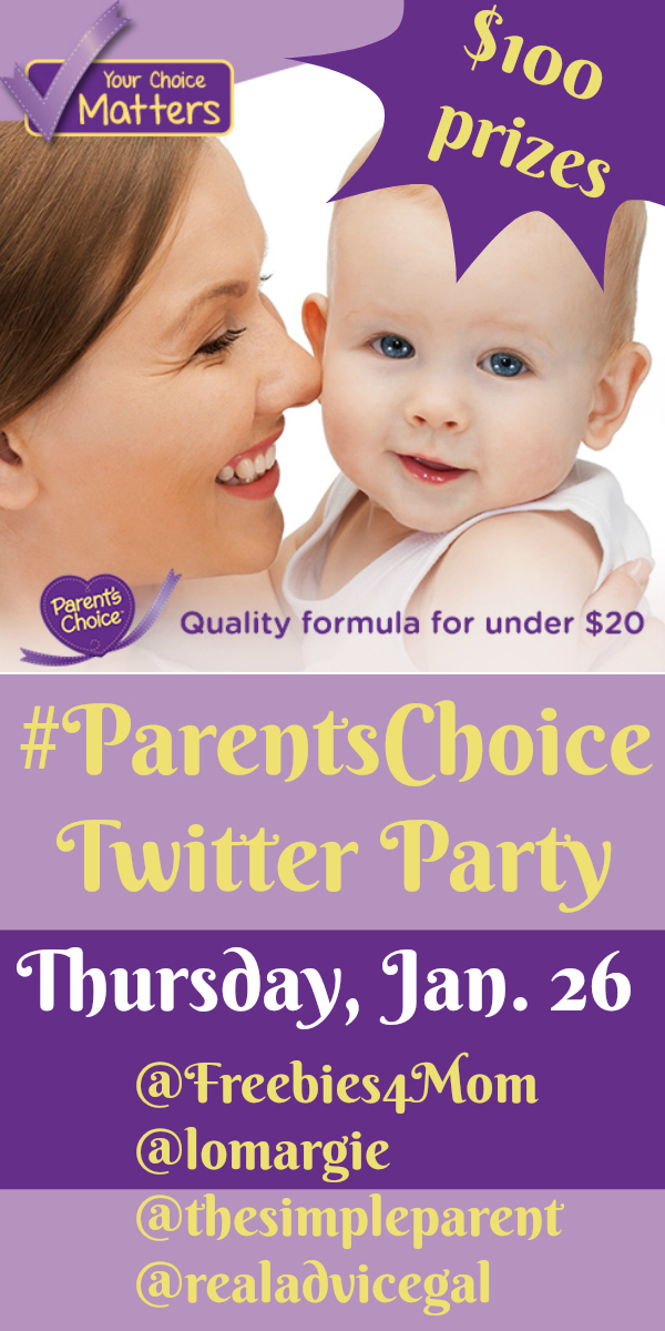 $500 in Prizes at #ParentsChoice Twitter Party Thursday, Jan. 26 at Noon CT