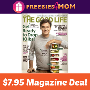 Magazine Deal: Dr. Oz The Good Life $7.95
