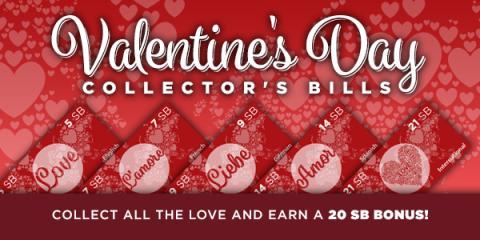 Swagbucks Valentine's Day Collector Bills