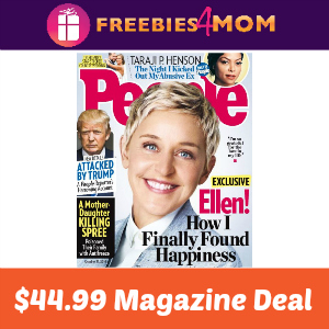 Magazine Deal: People $44.99 (63% Off)