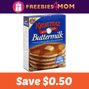 Coupon: $0.50 off one Krusteaz Pancake Mix