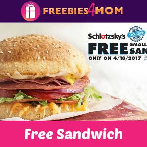 Schlotzskys free birthday sandwich
