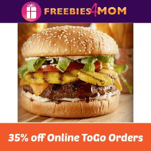 35% Off Online ToGo Red Robin Orders